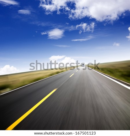 Leading to the distant highway speeds
