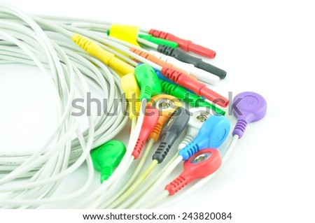 leads of  electrocardiogram equipment