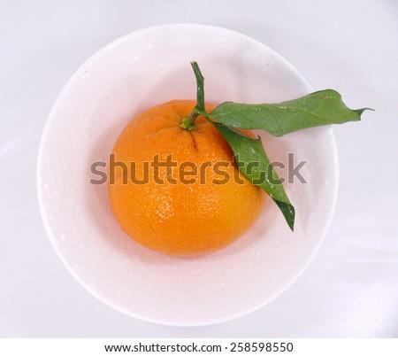 leaf orange - stock photo