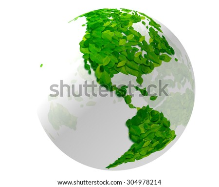 Leaf, the earth