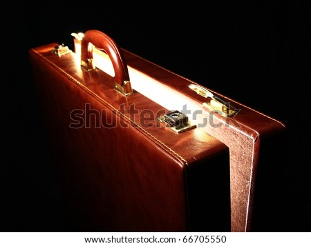 leakage of diplomatic secrets via business suitcase - stock photo