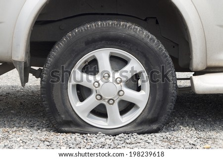 Leaked tire
