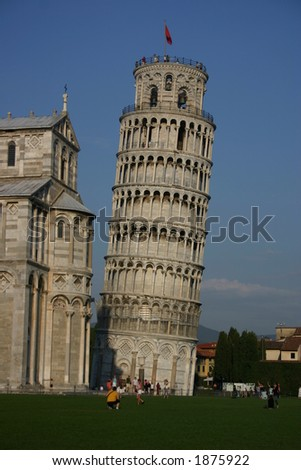 Leaning Tower beside the cathedral, Pisa