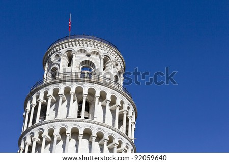 Leaning tower of Pisa, Italy (detail)