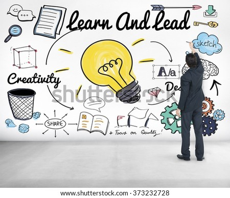 Learn and Lead Education Knowledge Development Concept - stock photo