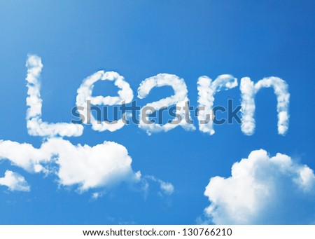 learn cloud word - stock photo