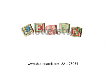 Learn colourful toy block concept - stock photo