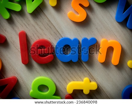 Learn concept - stock photo