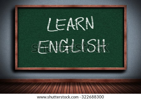 Learn English On Blackboard, education concept  - stock photo
