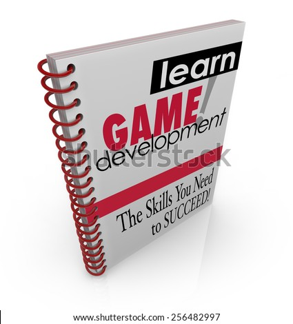 Learn Game Development title on book cover to illustrate education, schooling or training for computer software engineering, programming or development