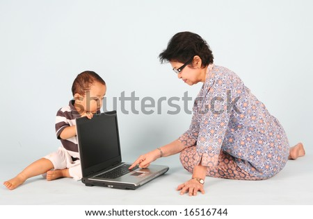 Learn how to use a laptop computer with grandma