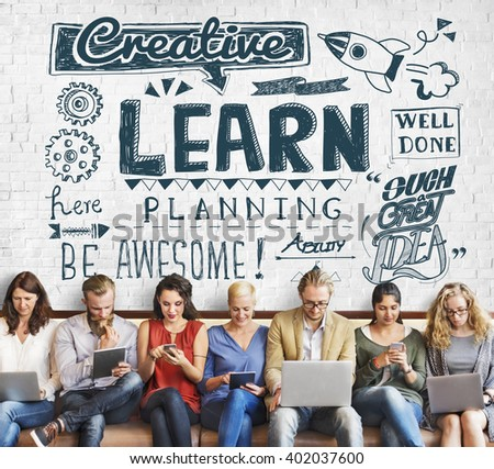 Learn Insight Education Knowledge Wisdom Ideas Concept - stock photo