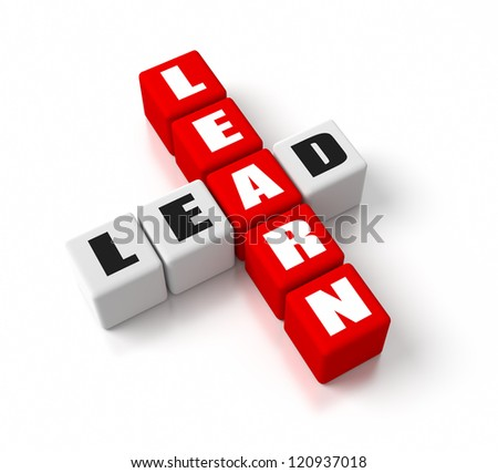 Learn Lead crosswords. Part of a business concepts series. - stock photo