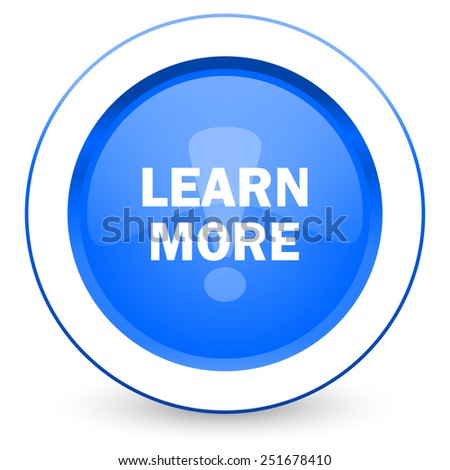 learn more icon   - stock photo