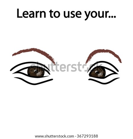 Learn to observe - stock photo
