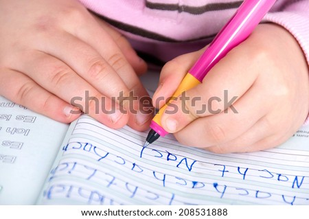 learn to Write - stock photo