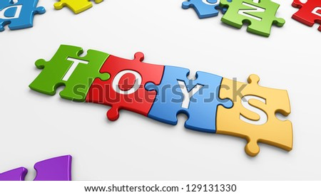 learn & toys - stock photo