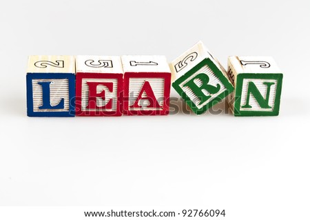 Learn word made by letter blocks