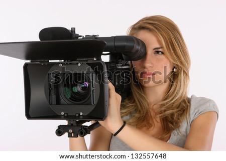 Learning Cinematography - stock photo