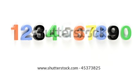 learning colorful 3d plastic numbers