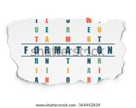 Learning concept: Formation in Crossword Puzzle - stock photo