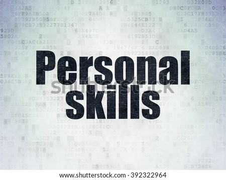 Learning concept: Personal Skills on Digital Paper background - stock photo