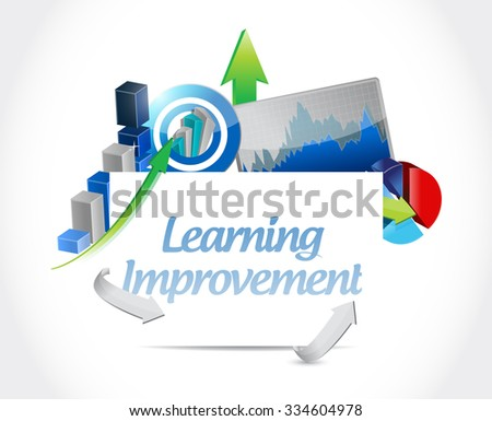 Learning improvement business sign concept illustration design graphic icon
