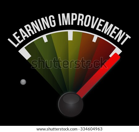 Learning improvement meter sign concept illustration design graphic icon