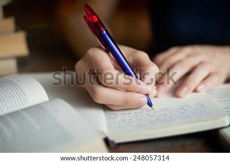 learning literature - stock photo