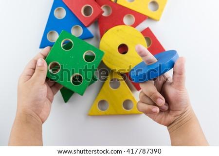 Learning Shapes - stock photo