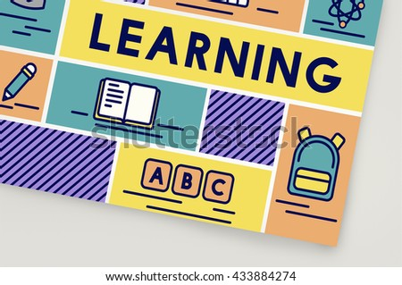 Learning Study Education Knowledge Literacy Concept - stock photo