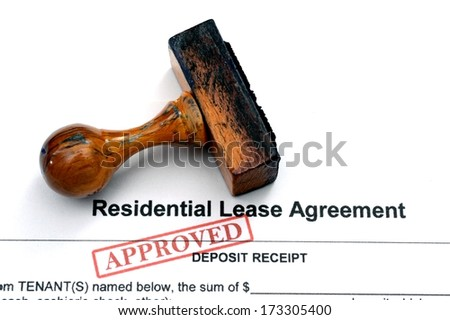 Lease agreement - approved - stock photo