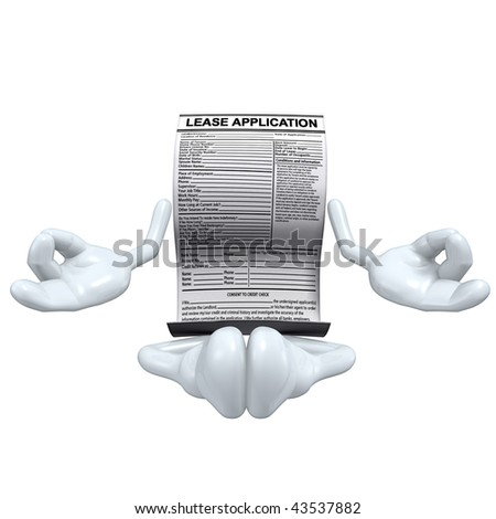 Lease Application Stock Illustration 43537894 - Shutterstock