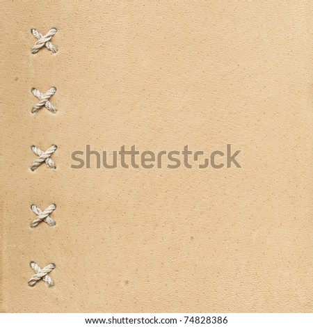 Leather as a background - stock photo