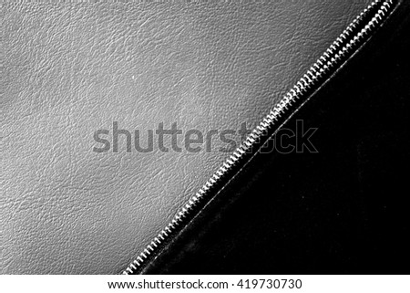 leather background and texture. black and white.