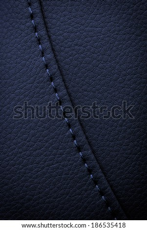leather background or texture with stitches