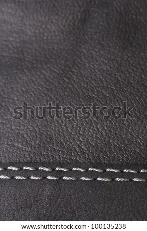 Leather background with seam - stock photo