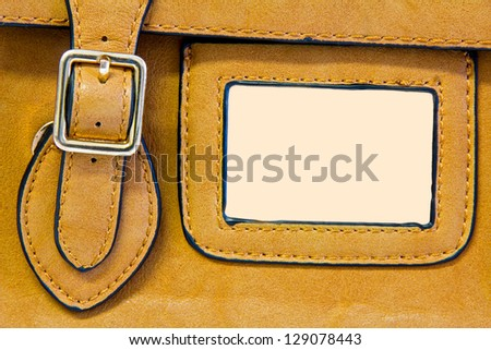 leather bag detail with frame