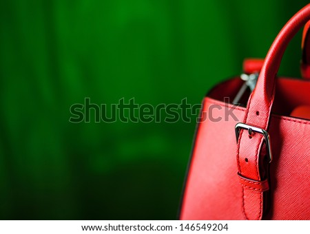Leather bag. Fashion concept  - stock photo