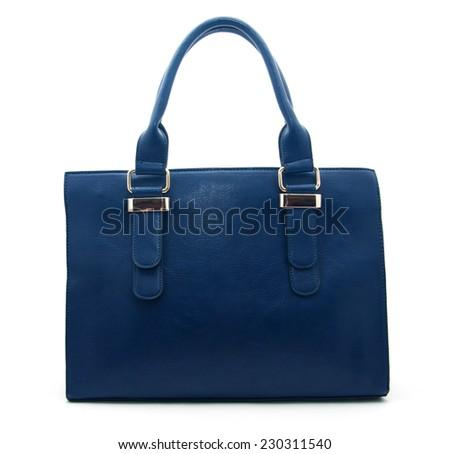 Leather bag. Fashion concept - stock photo