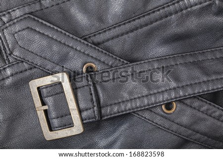 Leather belt - stock photo