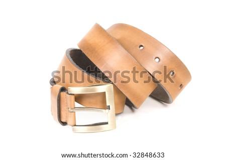 Leather belt - stock photo