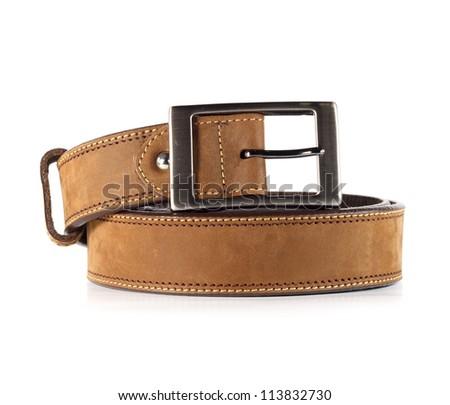Leather belt for men1. - stock photo