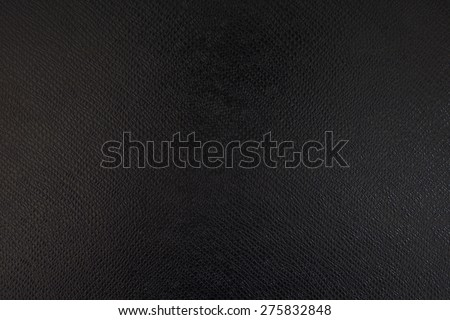 Leather black textured background - stock photo