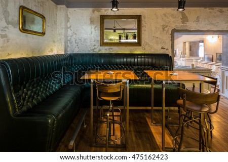 Restaurant booth stock images royalty free images - Interior leather bar free online ...
