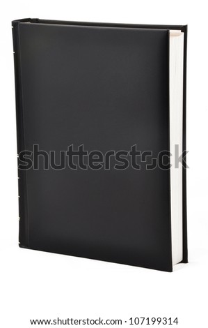 Leather bound book with a blank cover - stock photo