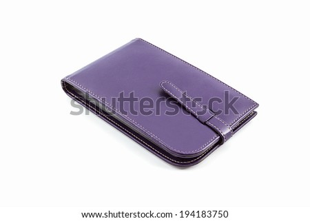 Leather card holder wallet isolated on white background.  - stock photo