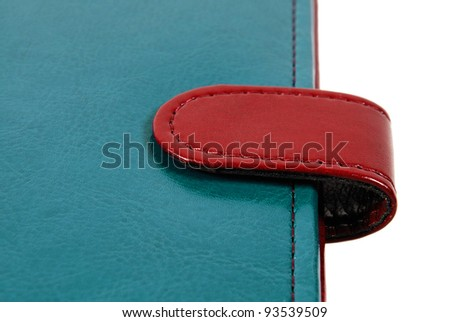 Leather cover binder - stock photo