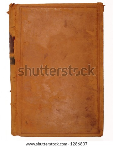 leather cover of an old book - stock photo