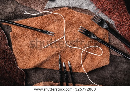 Leather craft stock images royalty free images vectors for Leather sheets for crafting